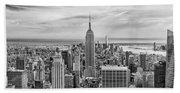 Amazing Manhattan Bw Beach Sheet