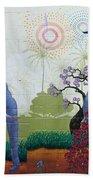 Amazing Wall Art Painting Or Elephants Beach Towel