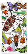 Amazon Insects Beach Towel