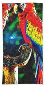 Amazon Parrotts Beach Towel