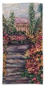 Amelia Park Garden Flowers Beach Towel