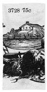 America: Farming, C1870 Beach Towel