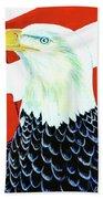 American Bald Eagle Painting #256 Beach Sheet