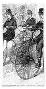 American Bicyclists, 1879 Beach Towel