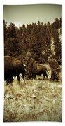 American Bison Vintage 2 Beach Towel