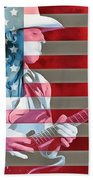 American Bluesman Stevie Ray Vaughan Beach Towel