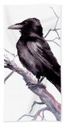 American Crow Beach Towel