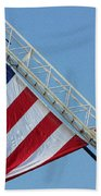 American Firefighter Beach Towel