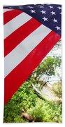 American Flag 1 Beach Sheet