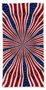American Flag Kaleidoscope Abstract 6 Beach Towel