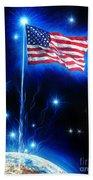 American Flag. The Star Spangled Banner Beach Towel