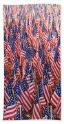 American Flags In Tampa Beach Towel