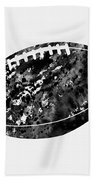 American Football-black Beach Towel