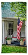 American Front Porch Beach Towel