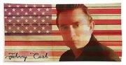 American Icon Johnny Cash Beach Towel