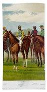American Jockeys, 1889 Beach Towel