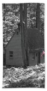American Little House In The Woods Beach Towel