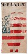 American Mammal The Bison Beach Towel