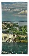 American Niagara Falls  Beach Towel