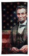 American President Abraham Lincoln 01 Beach Towel
