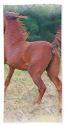 American Saddlebred Filly Beach Towel