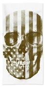 American Skull Beige Beach Towel