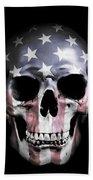 American Skull Beach Towel