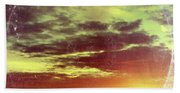 American Sunset As Vintage Album Art Beach Towel
