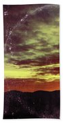 American Sunset As Vintage Album Art Beach Towel