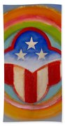 American Three Star Landscape Beach Towel