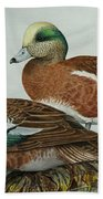 American Widgeons Beach Towel