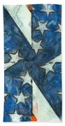 Americana Abstract Beach Towel