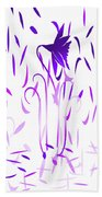 Amethyst Dancing Flowers Beach Towel