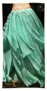 Ameynra Design Aqua-green Chiffon Skirt Beach Towel