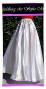 Ameynra Design. Satin Skirts - Red, White, Blue Beach Towel