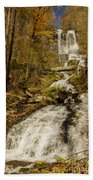Amicola Falls Gushing Beach Towel