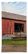Amish Barn At Sunrise Beach Towel