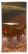 Amish Buggy Afternoon Sun Beach Towel