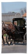 Amish Buggy And High Stepper Beach Towel