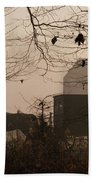 Amish Buggy Fall Beach Towel