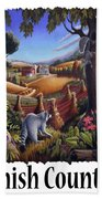 Amish Country - Coon Gap Holler Country Farm Landscape Beach Towel
