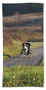 Amish Country Horse And Buggy In Autumn Beach Towel