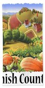 Amish Country - Pumpkin Patch Country Farm Landscape Beach Towel