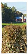 Amish Farm Country Fall Beach Towel