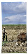 Amish Farmer Beach Towel