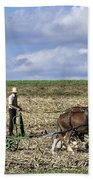 Amish Farmer Beach Sheet