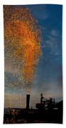 Amish Fireworks Beach Towel