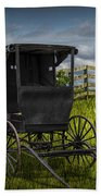 Amish Horse Buggy Beach Towel