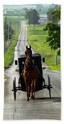 Amish Morning Commute Beach Towel