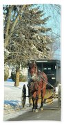 Amish Winter Beach Towel by David Arment